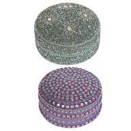 Multicoloured Decor Trinket Box 10cm 2 Assorted