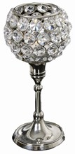 Nickle Crystal Tealight Holder 20cm