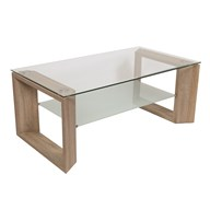 Oak Veneer Coffee Table 110x60