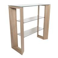 Oak Veneer Console Table 100x40cm