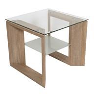 Oak Veneer Side Table/Shelf  55x55cm