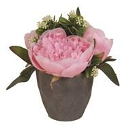 Peony Decorative Pot Pink 22cm