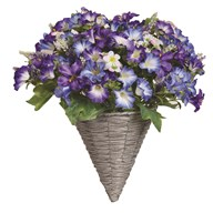 Petunia Wall Basket Blue & White (40*45cm)