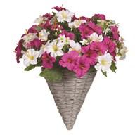 Petunia Wall Basket Pink & White (40*45cm)