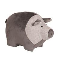 Pig Doorstop Grey 32x19cm