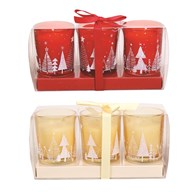 Pack of 3 Scented Votives 6cm 2 Assorted