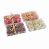 Flower Tealights Pack of 6 4 Assorted