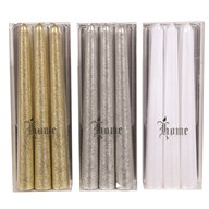 Pack of 3 20cm Taper Candles 3 Assorted