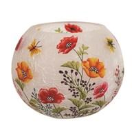 Poppy Globe Tealight Holder 10cm