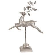 Prancing Reindeer Silver 36.5cm