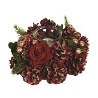 Red Rose Tealight Holder 18cm