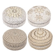 Round Pill Box 10cm 4 Assorted