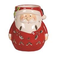 Santa Hanging TL Holder 14cm