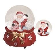 Santa Musical Snowglobe 14.5cm