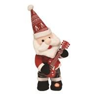 Musical Dancing Santa Playing The Guitar 33cm