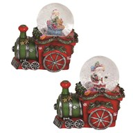 Santa Train Snowglobe 12cm2Ast