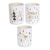 Scented Xmas Candle 10cm 3 Assorted