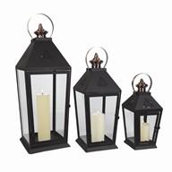 Set Of 3 Lanterns 63/48/35cm