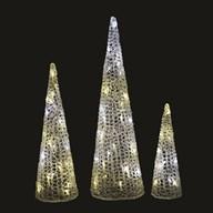 Set of 3 LED Cones 64/48/33cm