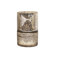 Silver Lustre Pillar Holder 25cm