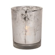 Silver Tree Tealight Holder 12.5cm