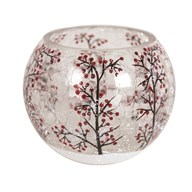 Snow Berry Globe Tealight Holder 8cm