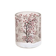 Snow Berry Tealight Holder 7cm