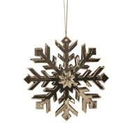 Snowflake Tree 11cm Gold