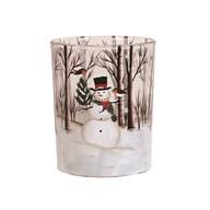 Snowman Pillar Holder 12.5cm
