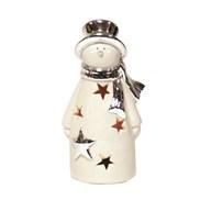 Snowman Tealight Holder 16.5cm