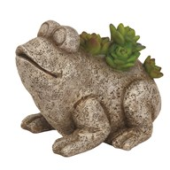 Solar Powered Decorative Garden Frog 14.5cm