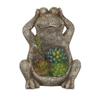 Solar Powered Decorative Garden Frog 21.5cm