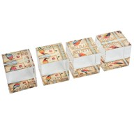 Square Bird Paperweight 5cm 4 Assorted