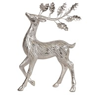 Standing Reindeer Silver 33.5cm