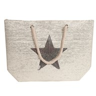 Star Beach Bag Cream 38x40cm