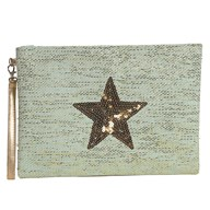 Star Cosmetic Bag Teal 20x28cm