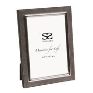 Black Wood Veneer Photo Frame 4x6""