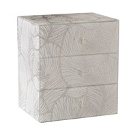 Jewellery Box Silver Leaf 18cm
