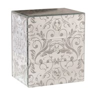 Jewellery Box Silver Scroll 18cm