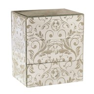 Jewellery Box Gold Scroll 18cm