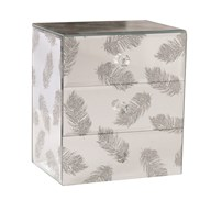 Jewellery Box Silver Feather 18cm
