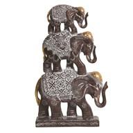 Triple Elephant Decor 28.5cm