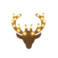 Warm White LED (18Lights) Reendeer 25cm