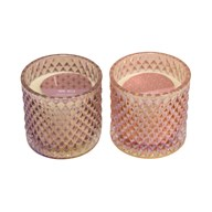 Wax Filled Candle 10cm 2 Assorted