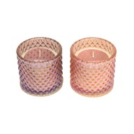 Wax Filled Candle 8cm 2 Assorted