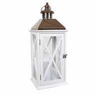 White Cross Des Lantern 55.5cm