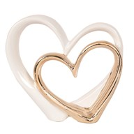 White Gold Heart Sculpture 24cm