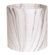 White Marble Planter 25x25cm