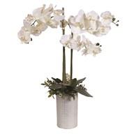 White Orchid Decor Pot 78cm