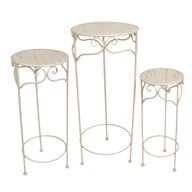 White Plant Stands Set of 3 70/60/50cm